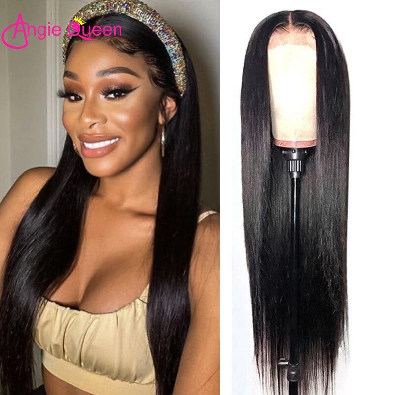 Прямой кружевной передний парик предварительно собранные человеческие волосы бразильский кружевной фронтальный парик 360 кружевной парик ...