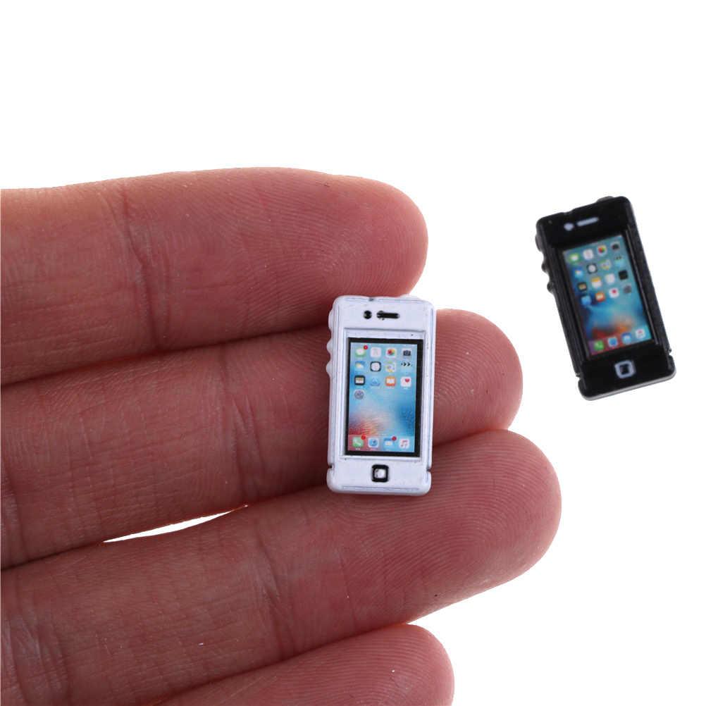 2 cores 1/6 1/12 escala mini telefone dollhouse brinquedo em miniatura 1 pcs cozinha sala de estar acessórios