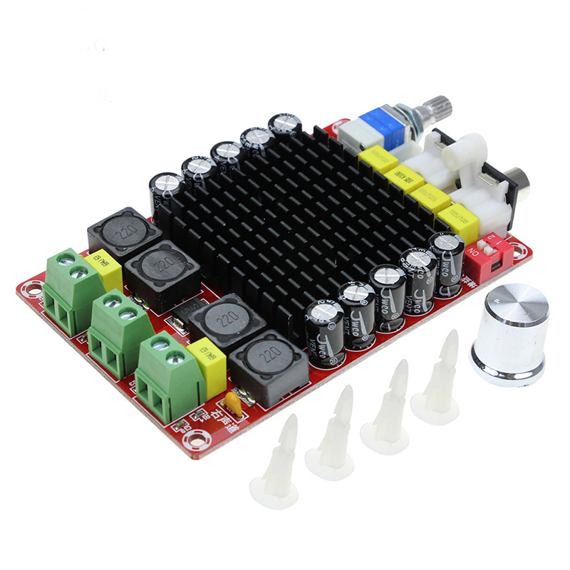 TDA7498 High Power Digital Amplifier Board  2*100W Class  D Amplifiers Audio DC15 32V For Home Theater Active Speaker|Amplifier| |  - title=