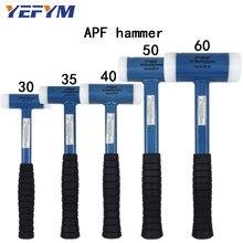 30mm-60mm Double Face Tap młotek nylonowy do wielofunkcyjnego narzędzia ręcznego twardego plastiku i antypoślizgowego plastikowego uchwytu średnica narzędzia