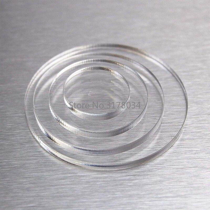 3 мм прозрачные экструдированные круг акриловые диски лист плексигласа для картинных рамок круглый торт диски держатели для рукоделия печь...