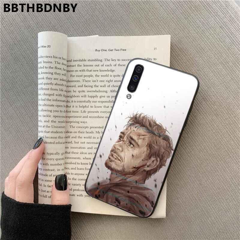 Robert Downey Jr Para Galaxy A7 2018 Pochette Soft Phone Fundas para Samsung Nota 3 4 5 7 8 9 10 pro 2018 A10 A40 A50 A70 J7