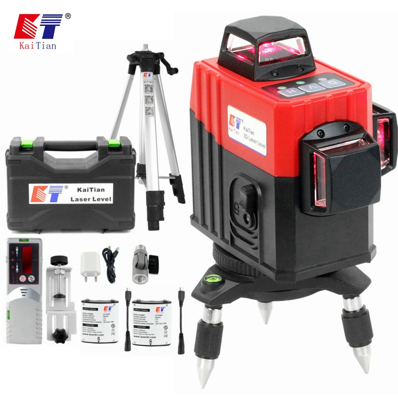 Kaitian 12 Line Laser 360 Level Tripod Self-Leveling Horizontal   Vertical Cross Line Level 3D Laser Detector Construction Tools