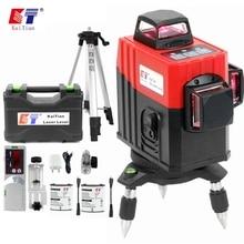 Kaitian niveau Laser 3D 12 lignes professionnel, ligne rouge auto nivelante 360 horizontale verticale, ligne Laser 3D puissante
