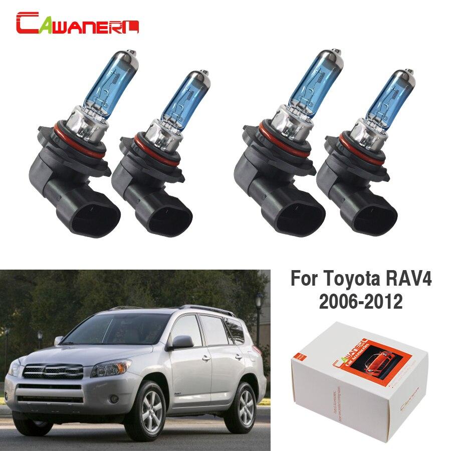 Cawanerl For Toyota RAV4 2006-2012 100W Car Styling Halogen Bulb Headlight Light 4 Pieces