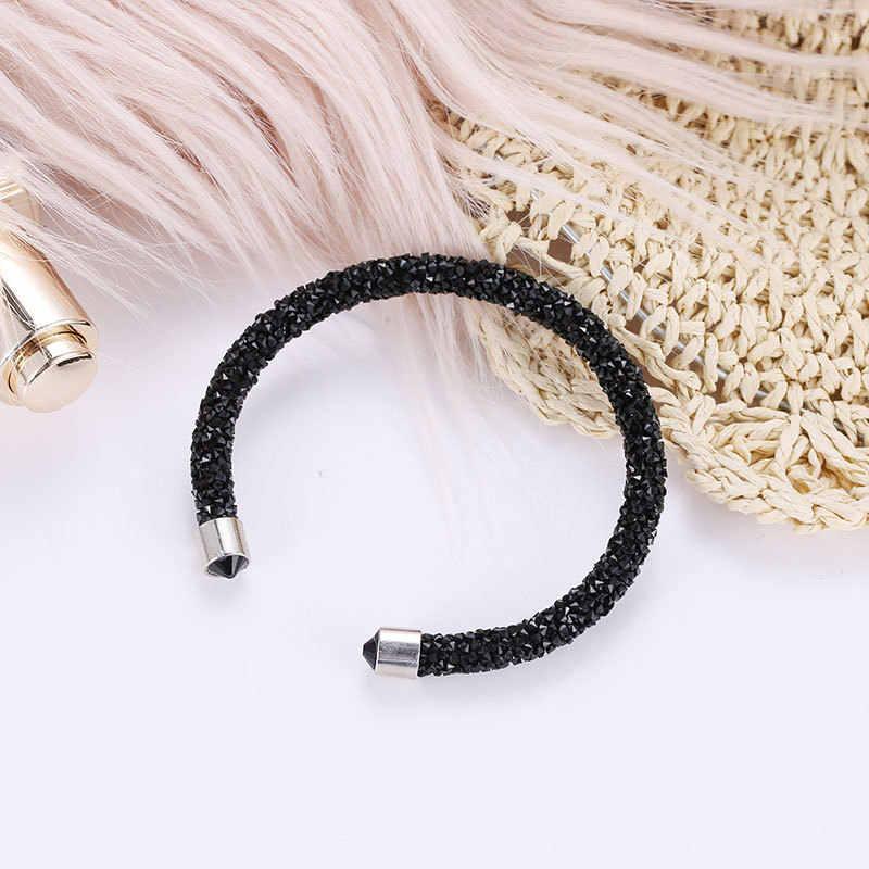 Moda Korea z tworzywa sztucznego stop otwórz bransoletka bransoletka dla kobiet geometryczne słodki łańcuch Pulseras Mujer Snap bransoletka Femme Boho bransoletka 2019