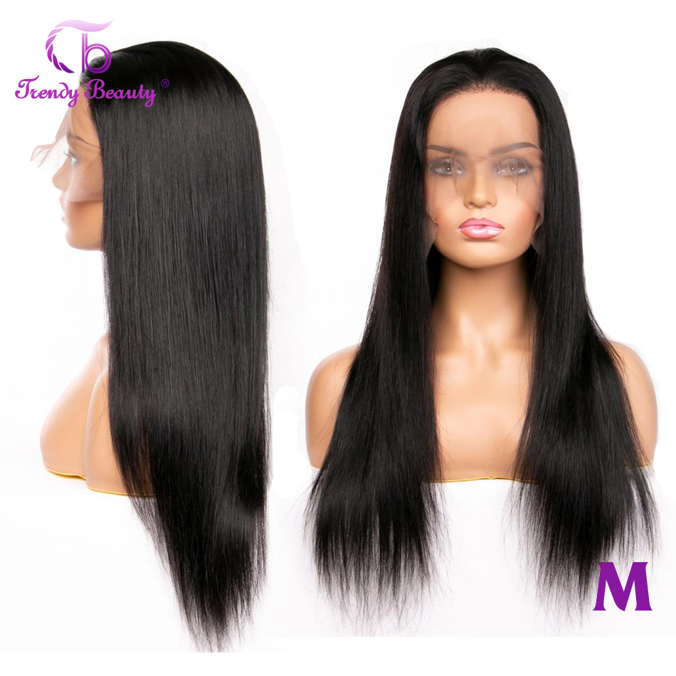 Trendy Beauty Brazilian Lace Frontal Human Hair Wigs 13*4 Natural Color Straight Wig With Baby Hair 10-24 Inches Non-Remy Hair