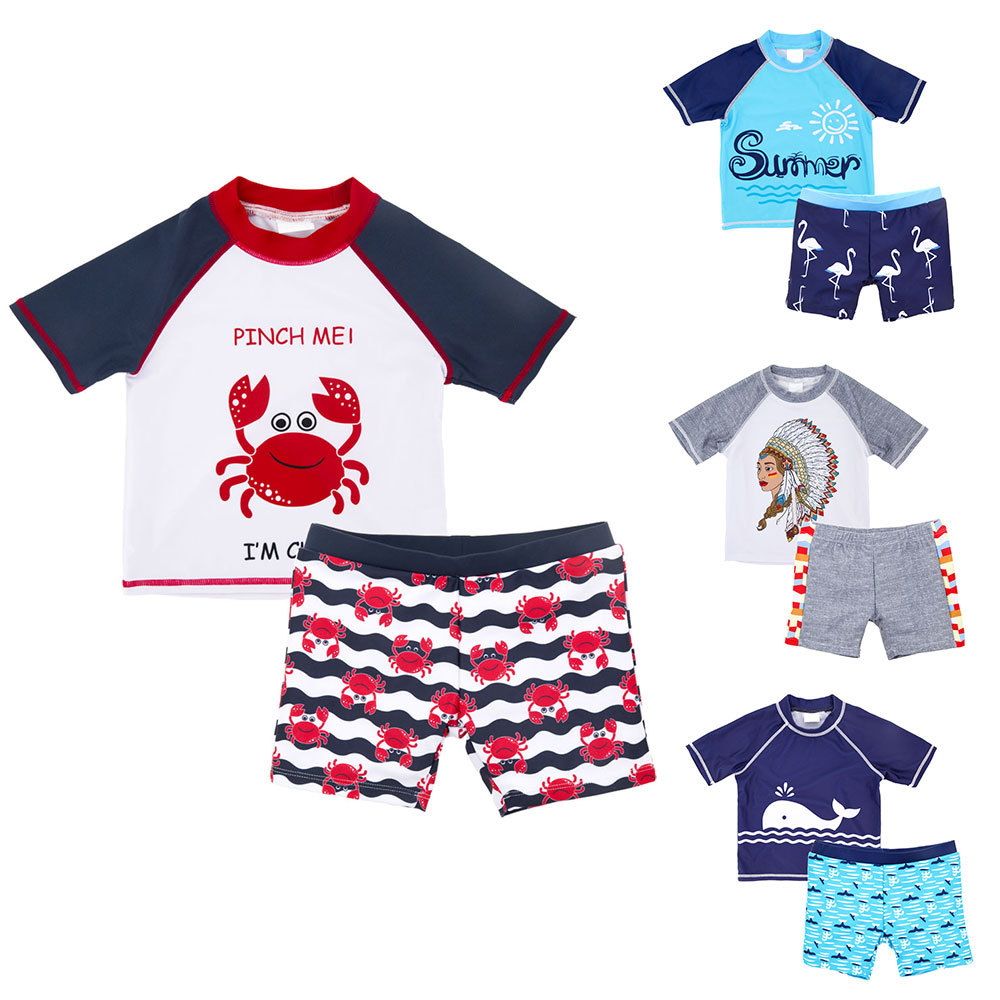 2019 Europe And America Bathing Suit New Style BOY'S Swimsuit Big Boy Baby Hot Springs Split Type CHILDREN'S Swimsuit Factory Di