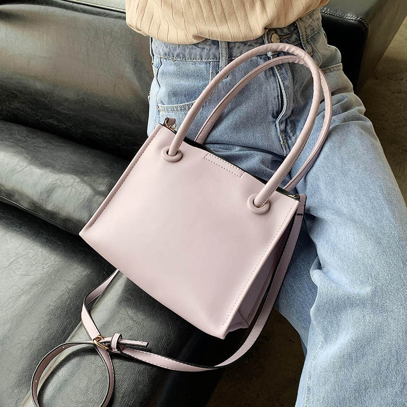 Solid Color Simple Pu Leather Crossbody Bags For Women 2020 Female Shoulder Handbags Lady Fashion Summer Small Totes