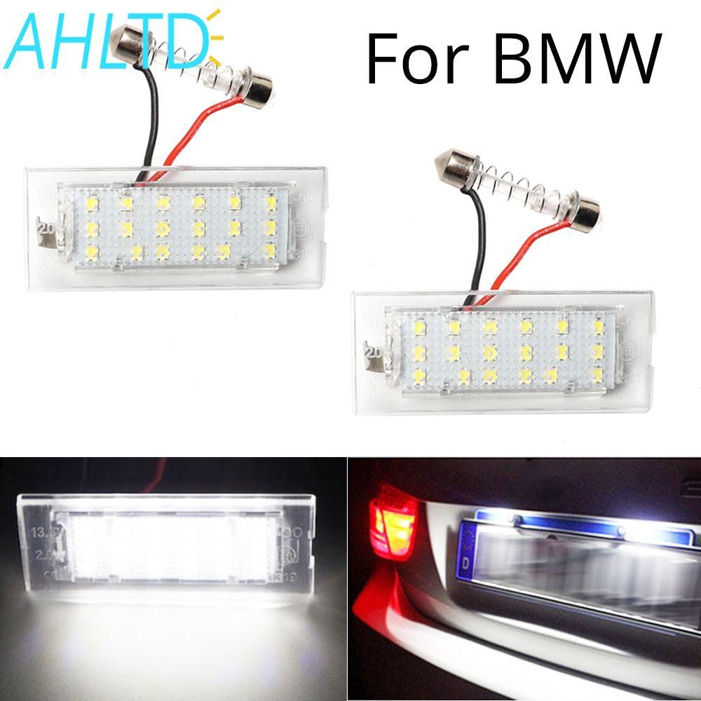 2pcs Car LED Number License Plate Light For BMW E53 X5 1999-2003 E83 X3 03-10 NJ88 High Bright 18leds 6000K 3528smd 12V Lamp