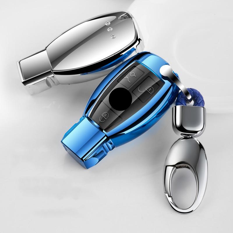 Funda para mando A distancia del coche de TPU suave protección para Mercedes benz CLS CLA GLR SLK AMG A B C S clase cubierta completa accesorios para automóviles