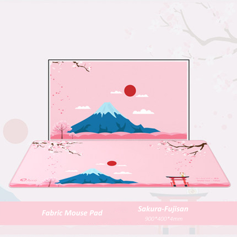 Оригинальный коврик для мыши AKKO Sakura & Fujisan, большой игровой компьютерный коврик для мыши 900x400x4, большой коврик World Tour XXL, клавиатура для ноутбу...