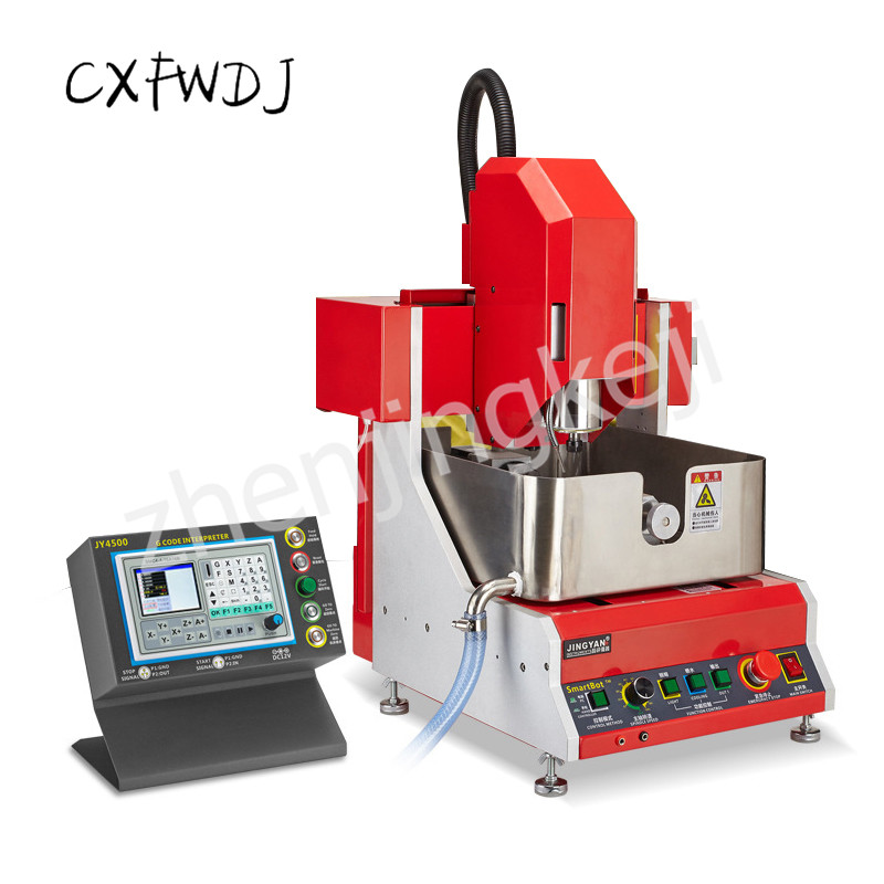 Small CNC Engraving Machine Four-axis Stereo Automatic Metal Jewelry Beeswax Multi-function Carving Machine