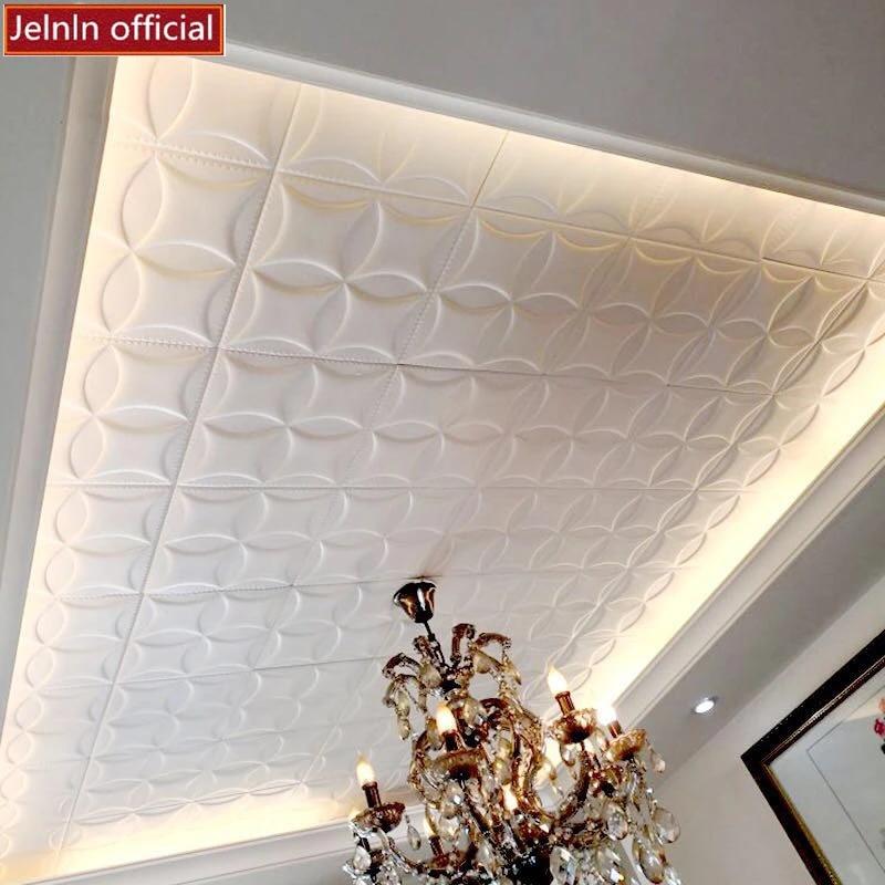 Papier Peint Autocollant Mural Impermeable Autocollants Muraux A Motifs En 3d Isolation Phonique Du Toit Du Plafond Papier Peint Pe Creatif Decoratif Aliexpress