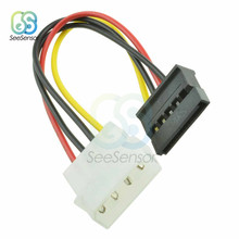 5 unidades IDE para Serial ATA SATA Hard Drive Power Adapter Cable 4-pin Power Drive Cabo Adaptador para molex IDE SATA 15-pin Conector(China)