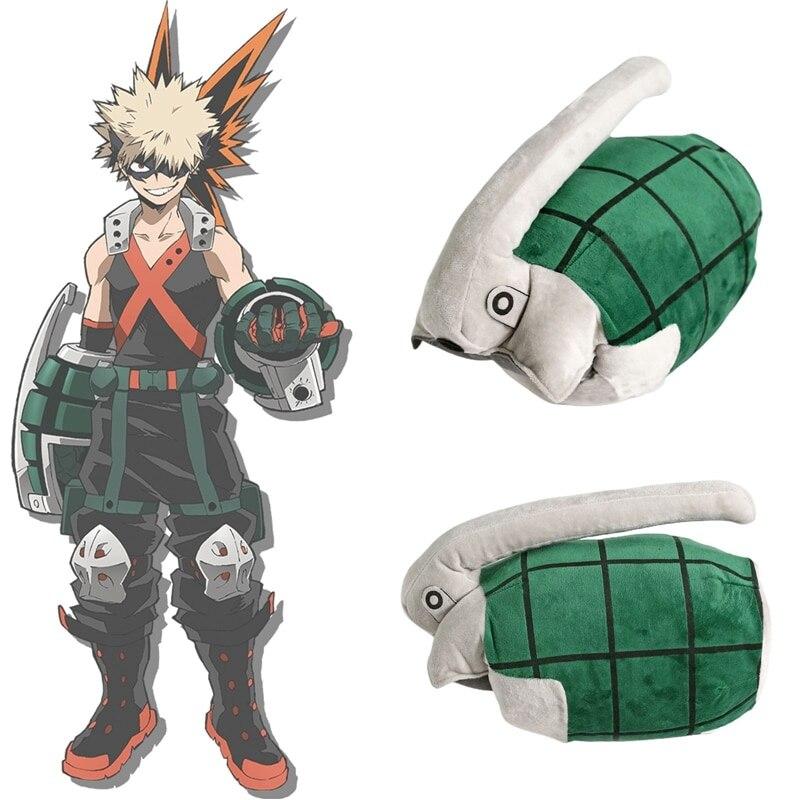 Мой герой Академии Bakugo Katsuki плюшевая игрушка для костюмированной игры перчатки на запястье руки браслет на запястье Мощность наручей грана...