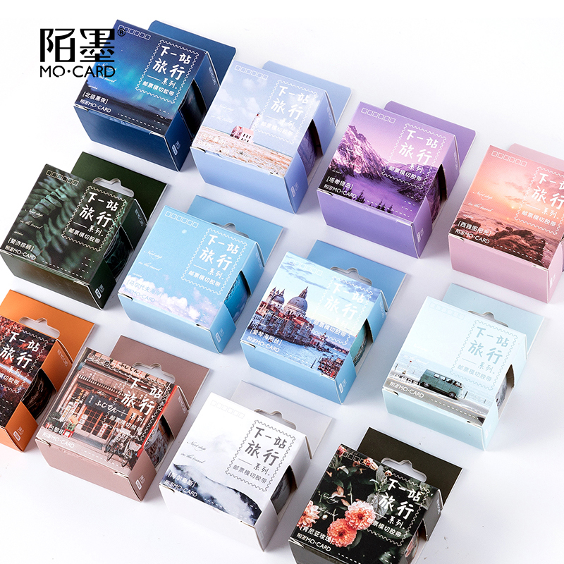 Next Station Travel Stamp Series Color Diary Kawaii Washi Masking Tape Paper Scrapbooking Stationery Decorative Tape