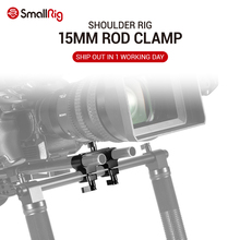 SmallRig DSLR Camera Shoulder Rig For 15mm Rail Support System 90° Double Rod Clamp Offset Rig for Handle Rig Attach  2374 lanparte ofc 02 adjustable z shape offset clamp for 15mm rail system rig dslr video rig