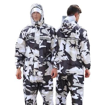 Scooter Pants Raincoat Jacket Waterproof Set Outdoors Men Raincoat Pants Thick Impermeable Regenjacke Plastic Suit JJ60YY