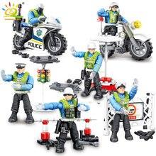 228 шт городская полиция траффик куклы модель строительные блоки