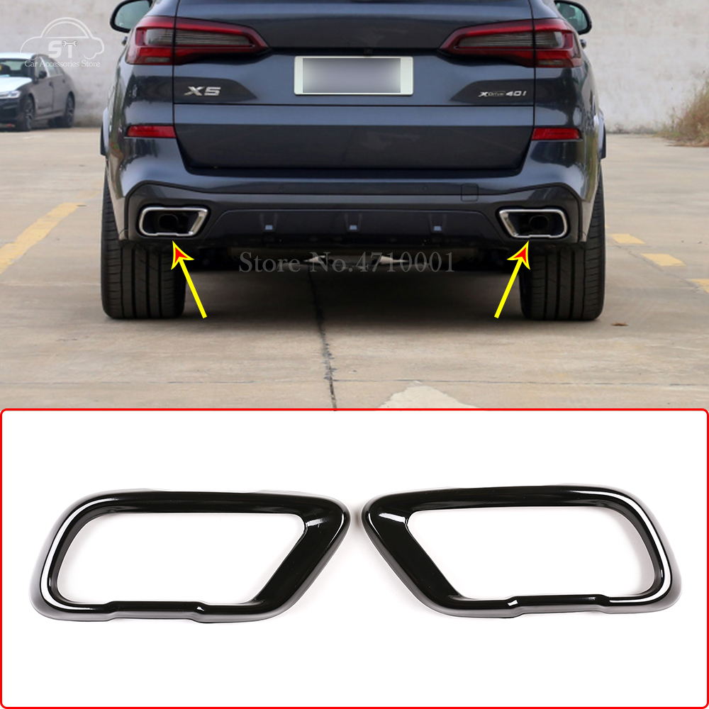 Stainless Steel,Car Tail Muffler Exhaust Pipe Output Cover,for BMW X5 G05 X6 G06 X7 G07 2019-2021 Accessory,For M Sports Version
