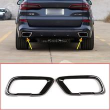 Нержавеющаясталь, автомобильный наконечник на глушитель выхлопной трубы Выход крышка, для BMW X5 G05 X7 G07 2019-2021 аксессуары (подходит для м спорт...