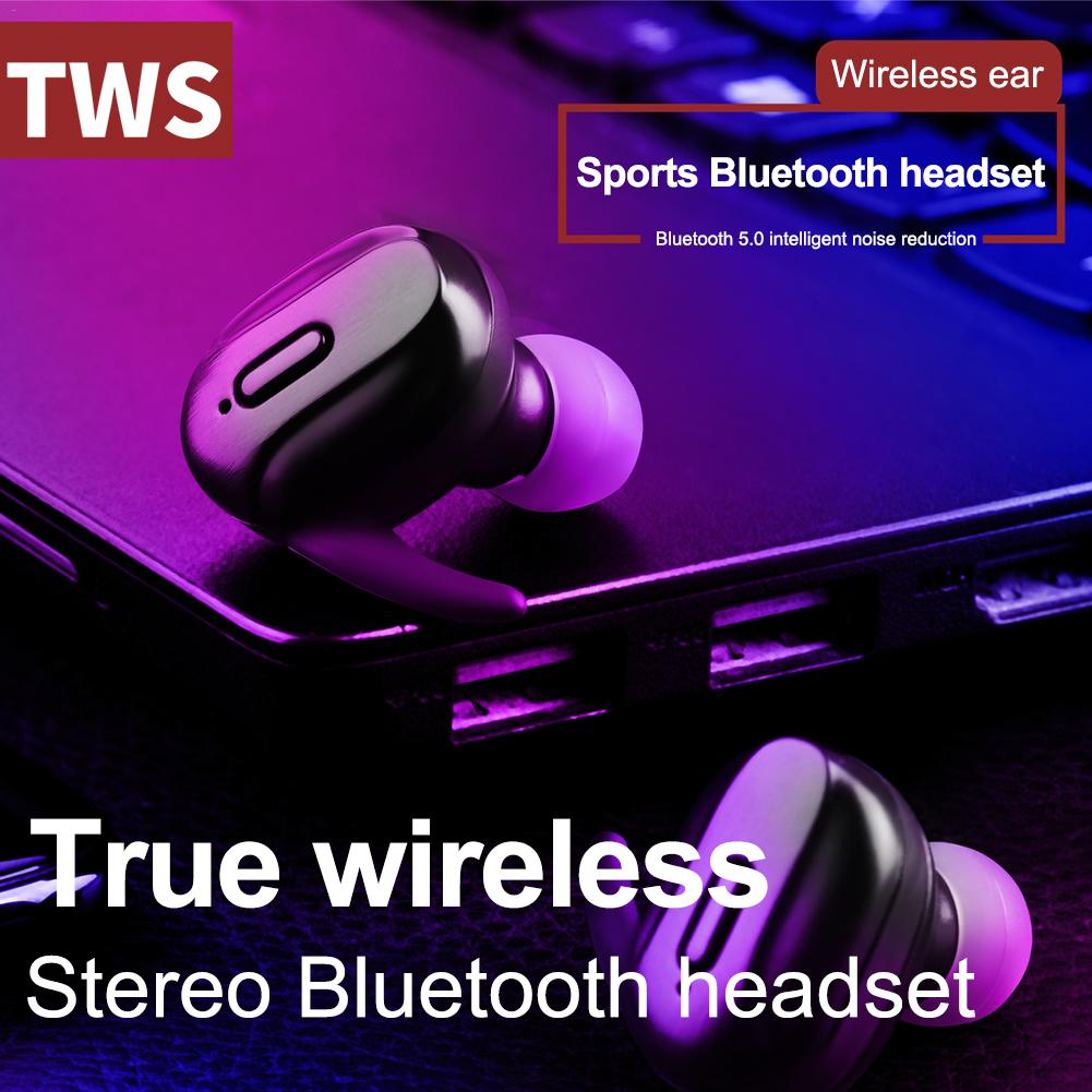 Wireless Earphone TWS Sport Bluetooth V5 0 Headset Touch Control True Earbuds 6D Stereo Head free Waterproof For IOS Android in Bluetooth Earphones Headphones from Consumer Electronics