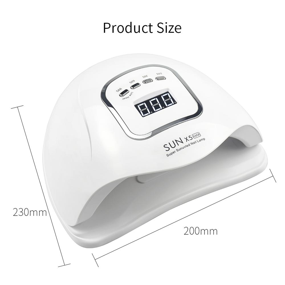 Image 5 - 80W SUNX5MAX UV LED Lamp 45 PCS LED Nail Dryer For All Gel Polish Dual Power Quick Drying With Auto Sensor Manicure Salon Lamp-in Nail Dryers from Beauty & Health
