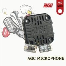 0.3g rush agc microfone mic para tanque de corrida mini vtx transmissor vídeo rc zangão multirotor fpv corrida