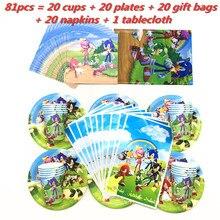 Set di stoviglie usa e getta a tema Sonic the Hedgehog per bambini decorazioni per feste di compleanno Baby Shower Plate Cup tovagliolo borsa forniture per feste