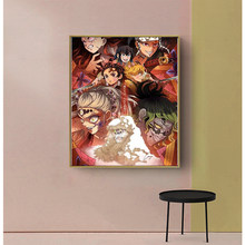 Figura moderna de Anime para casa y hogar, figura de moda con diseño impreso de póster HD, ideal para regalo, arte nórdico