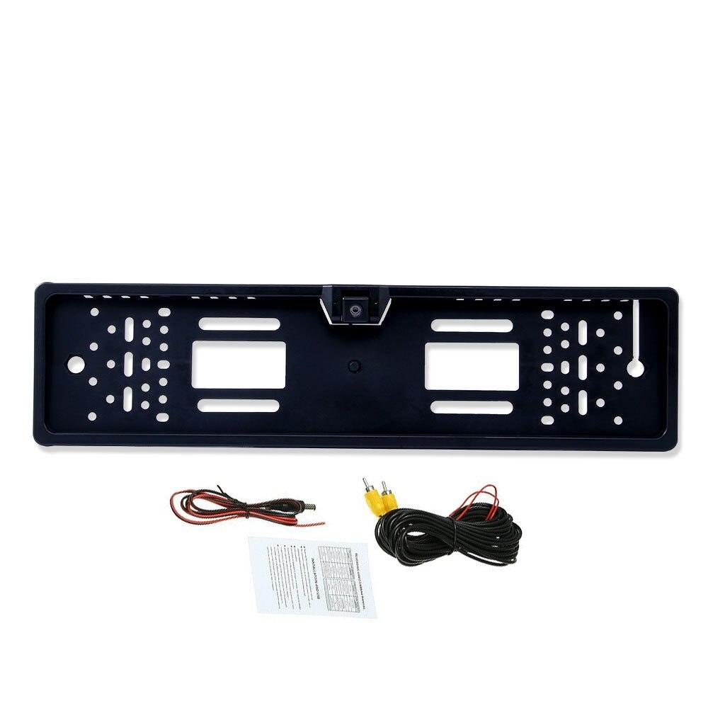 Cadre de plaque d'immatriculation européenne de l'ue caméra de vue arrière de voiture caméra de recul de Vision nocturne étanche caméra de recul pas de lumière LED seulement caméra
