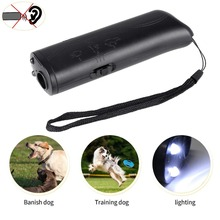 Anti-Barking-Control-Devices Trainer Stop Dog-Repeller Ultrasound Black 3-In-1