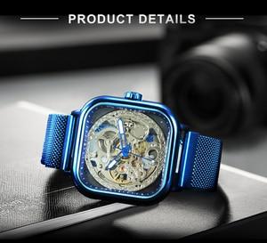 Image 3 - FORSINING Top Luxury Brand Watch Mens Auto Mechanical Magnet Strap Fashion Royal Transparent Skeleton Wristwatch Clock мужские