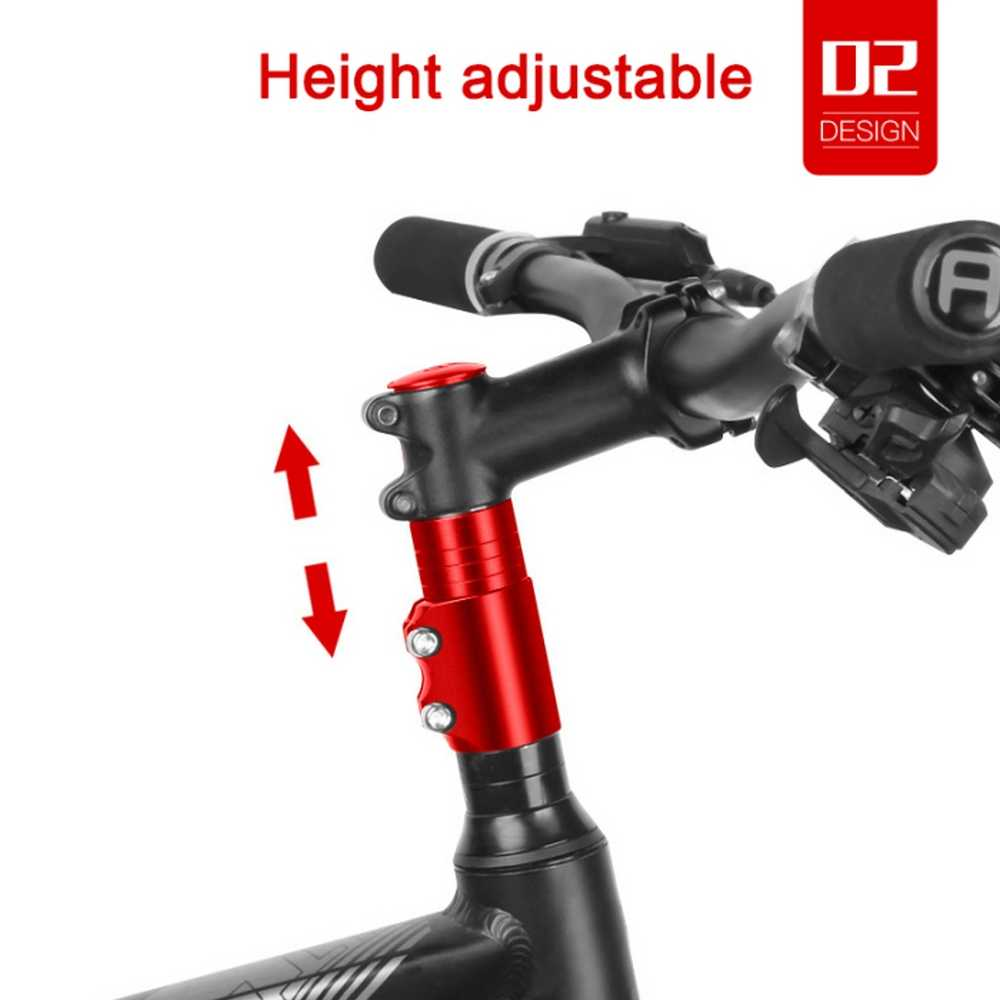 Black Bicycle Bike Handlebar Alloy Fork Stem Riser Lifter Extender Adapter