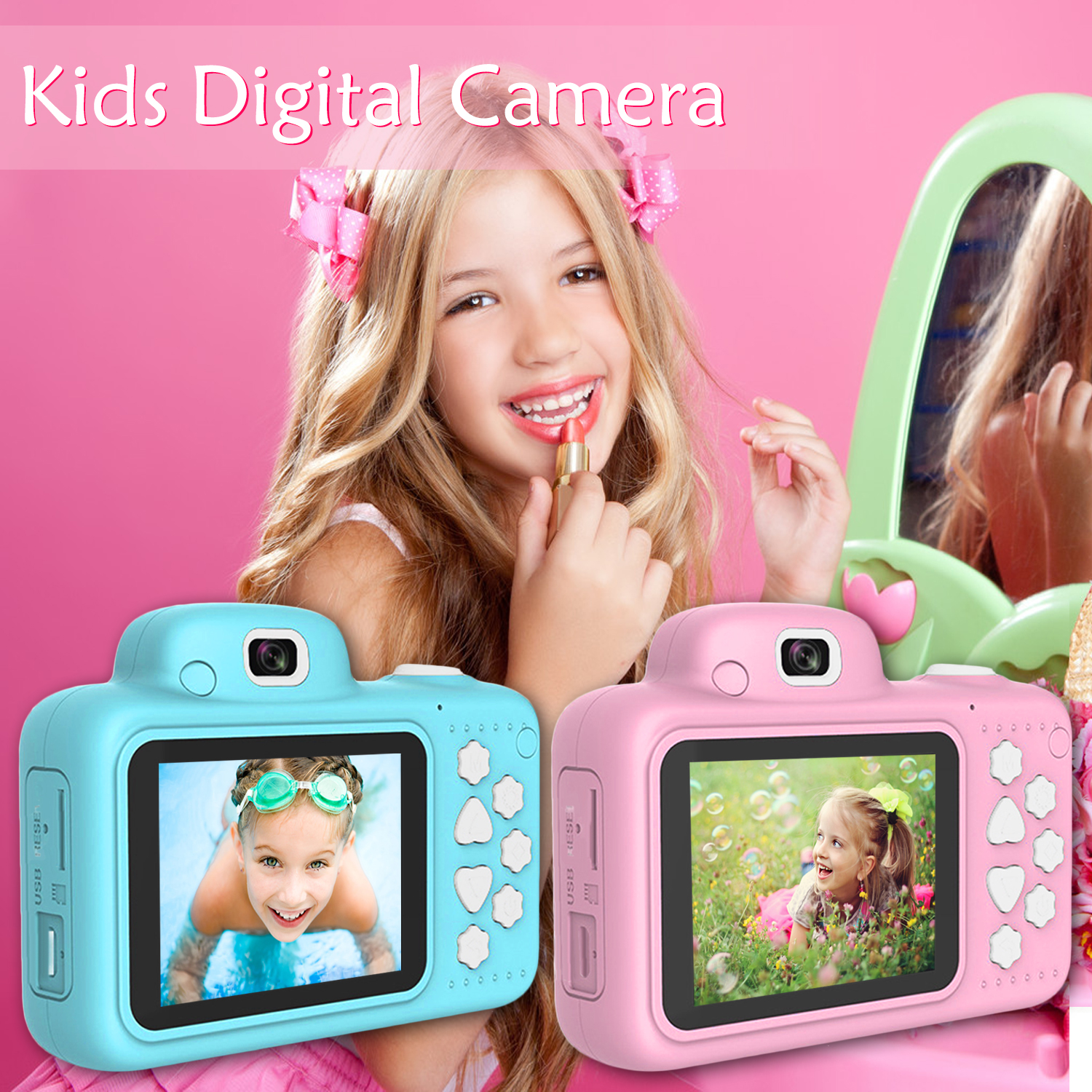 Children Mini Camera Kids Educational Toys Camera For Birthday Gifts Digital Camera 1080P Projection Video Camera Kid Camera Toy