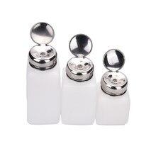 100 ml/200 ml/250 ml boş pompalı dağıtıcı oje temizleyici şişesi sıvı UV jel lehçe Nail Art temiz aseton şişe
