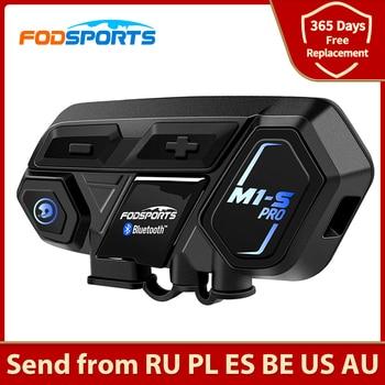 Fodsports M1-S Pro Motorcycle Bluetooth Helmet Intercom Headset 8 Riders 2000M Group BT Interphone Noise Reduction Voice Prompt