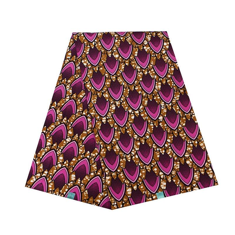Geometric Prints African Ankara Wax Fabric Wholesale 6 Yards Pure Polyester African Ankara Wax Fabric Breathable Wax Material