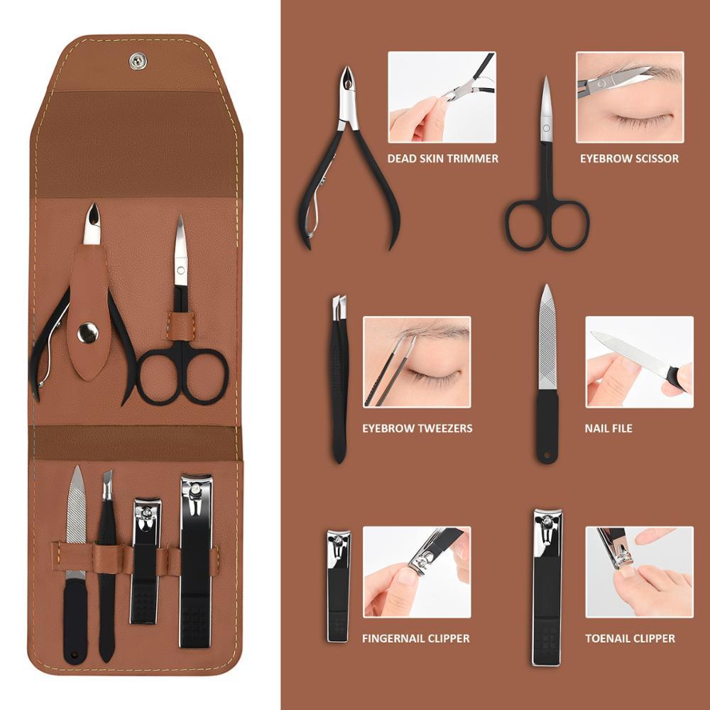 6 pcs portatil prego clippers conjunto de 04