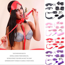 SM Game Suit Sex Toys 10 Piece Set Handcuffs Feet Socks Whip Toys Adult Leather Plush H0919