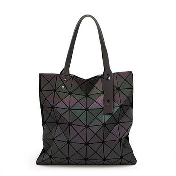 2020 Autumn Fashion WOMEN'S Bag Triangular Flexible Handbag Shoulder Bag Geometry Rhombus Folding Laser Bag