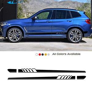 Car Side Stripes Stickers For BMW X5 E70 E53 F15 X3 F25 E83 X6 F16 E71 X1 F48 E84 X2 X4 F26 X7 M2 M3 M4 M5 M6 Car Accessories