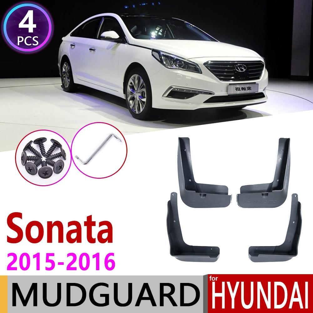 4 PCS Front Rear Car Mudflap For Hyundai Sonata ECO SE 2015~2016 I45 LF Fender Mud Guard Flap Splash Flaps Mudguards Accessories