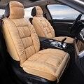 Теплый чехол для автомобильного сиденья  универсальная зимняя плюшевая подушка из искусственного меха для автомобильного сиденья  защитны...