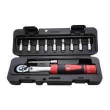 """1/4 """"DR 2 14Nm Kit de clés dynamométriques pour vélo Kit doutils de réparation de vélo clé dynamométrique mécanique à cliquet clés manuelles"""