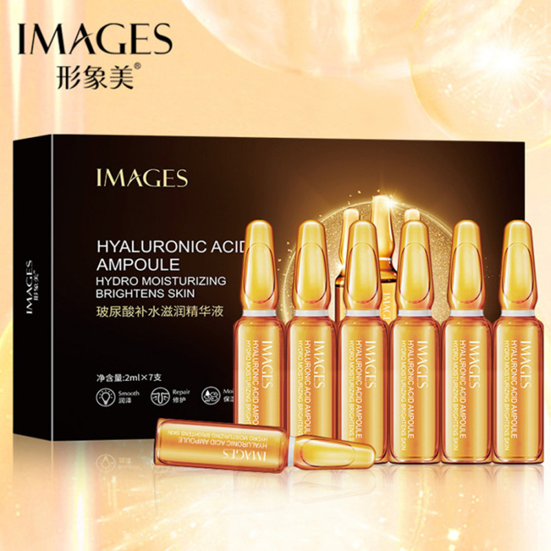 IMAGES Hyaluronic Acid Ampoule Serum Moisturizing Oil Control Skin Care Repair Nicotinamide Face Serum Shrink Pore Anti Aging