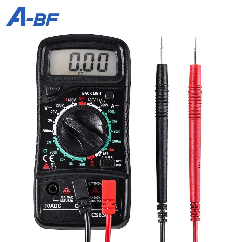 Цифровой мультиметр тестер A-BF CS830L Вольтметр Амперметр постоянного тока тестер сопротивления Омметр транзистор пик Подсветка удержания да...
