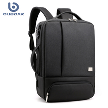 OUBDAR 2020 New Men Backpack USB Charging 15.6 Inches Laptop Back Pack Waterproof Multifunction Business Travel Unisex Backbags