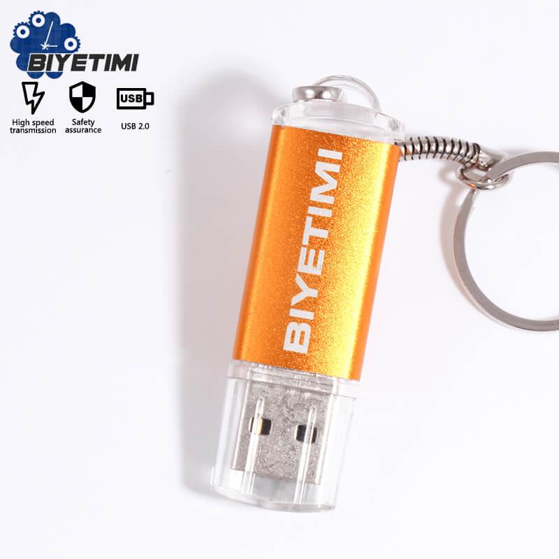 Biyetimi A110 Usb Flash Drive 64GB 32GB 16GB 4GB Pen Drive 128GB Memory Usb 2.0 Stick Pendrive  With Key Chain